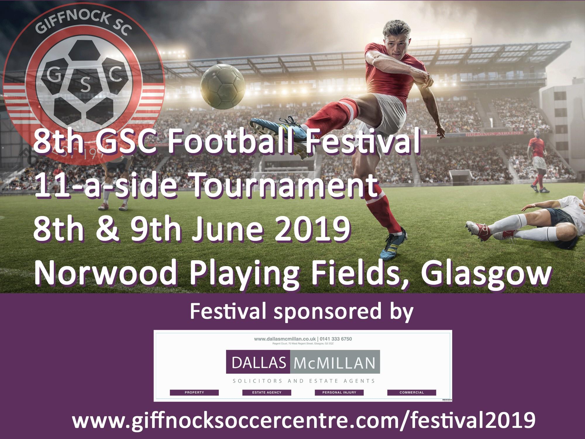 DALLAS McMILLAN SPONSOR GIFFNOCK SOCCER CENTRE'S FOOTBALL FESTIVAL 2019